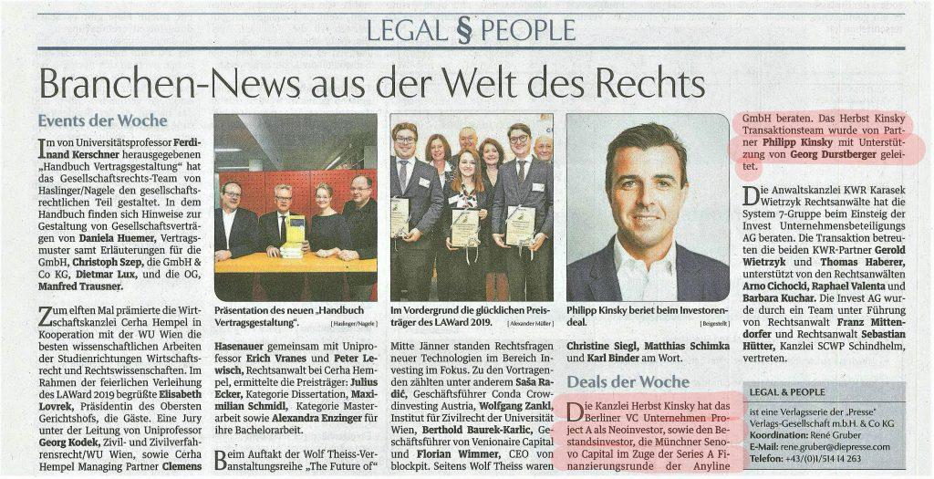 Die Presse, 27.1.2020
